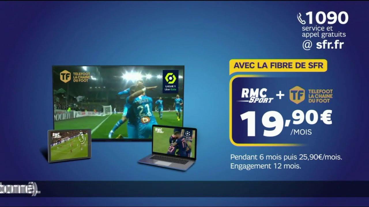 """Musique de la pub SFR Fibre – RMC Sport + Telefoot """"rentrée 100% foot""""  2021"""