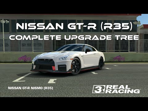 Real Racing 3 Nissan GT-R NISMO (R35) Complete Upgrade Tree RR3