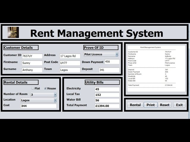 How to Create an Object Oriented Rent Management System in Java NetBeans - Full Tutorial