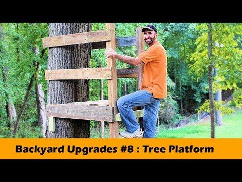 Simple Tree Platform DIY ~ Backyard Upgrades #8