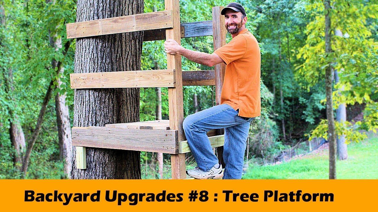 Simple Tree Platform Diy Backyard Upgrades 8 Youtube
