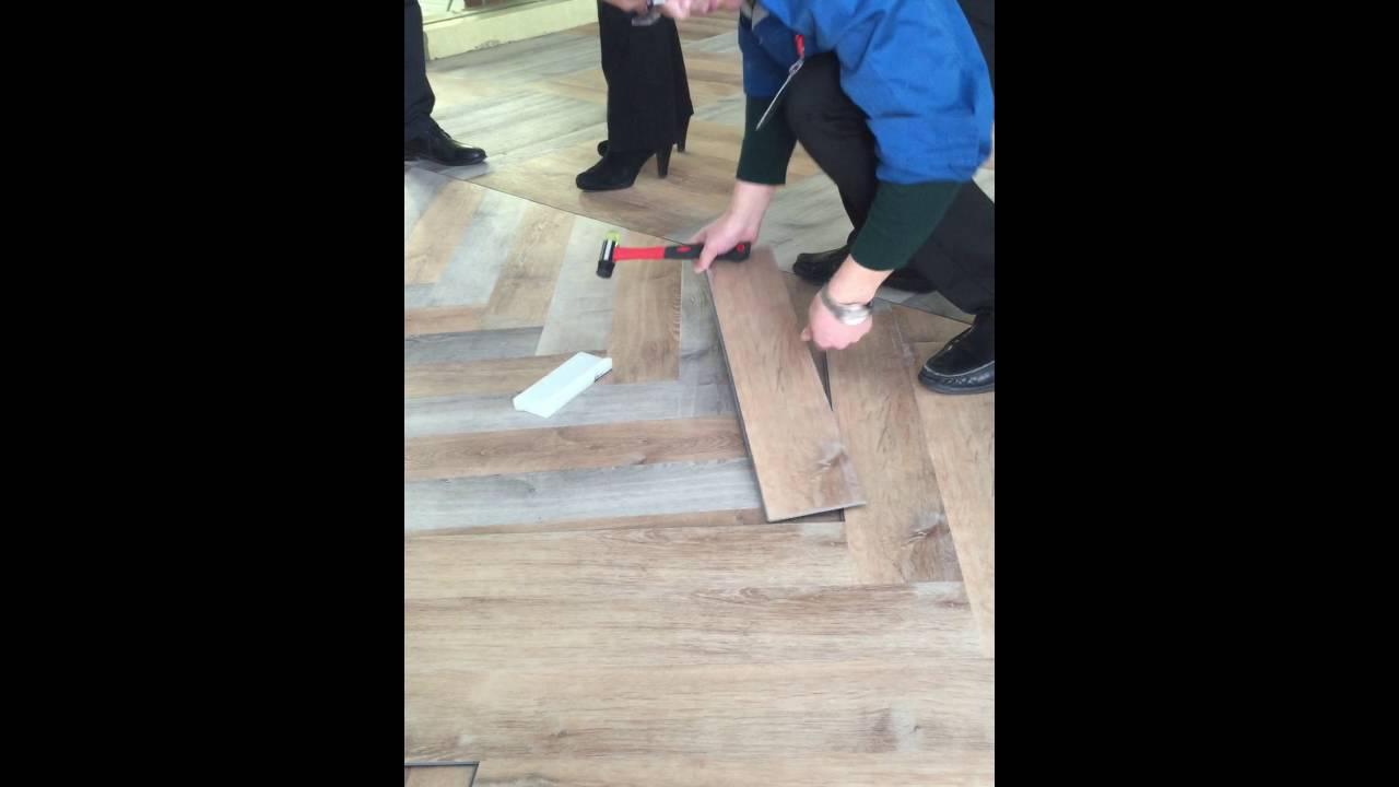 Solid Vinyl Click Herringbone Vertex Floors