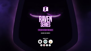 Animated Twitch Overlay Design Package Raven Fortnite | own3d.tv