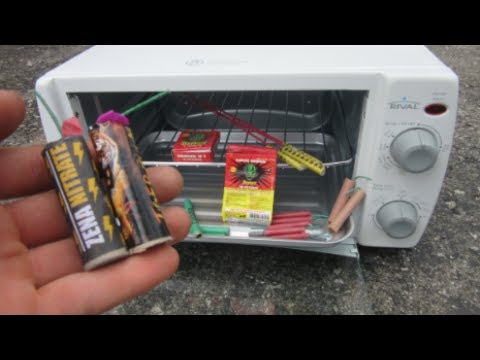 Firecrackers in Toaster Oven