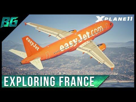 X-Plane 11 | Exploring France! (Monaco - Paris)(VATSIM)
