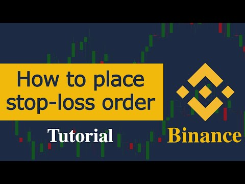Stop-loss Orders On Binance Exchange, How To Place Stop-limit Order