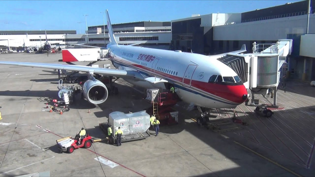 China eastern airlines a330 200 docking at sydney - China eastern airlines sydney office ...