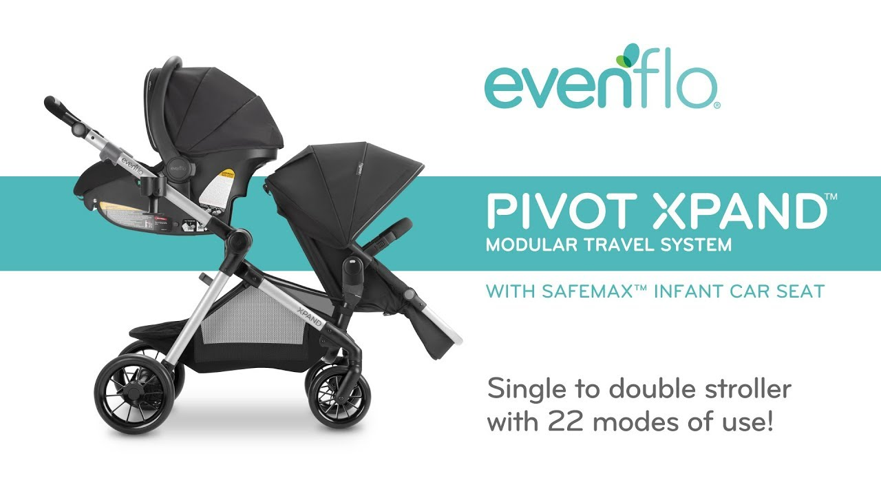 Evenflo Pivot XpandTM Modular Travel System With SafeMaxTM Infant Car Seat