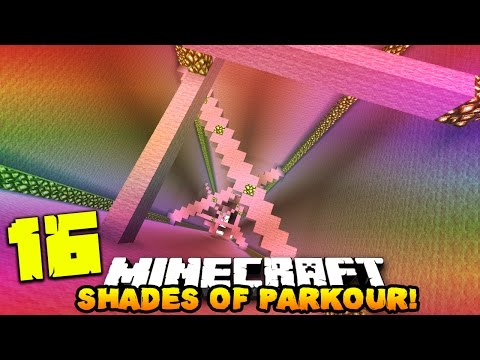 Minecraft 16 SHADES OF PARKOUR! | (Dropper, Elytra, & Enderpearl Parkour)