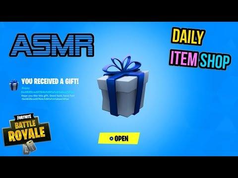 ASMR | Fortnite Ninja Skin Bundle Returns + Gift! Daily Item Shop Update 🎮🎧 Relaxing Whispering 😴💤