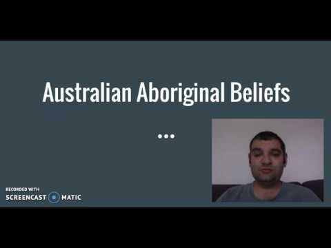 Preliminary Studies of Religion Nature of Religion and Beliefs: Australian Aboriginal Beliefs