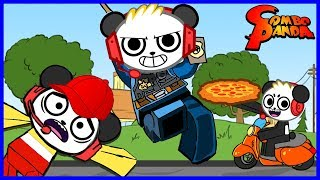 Best Jobs Ever! Escape McDonalds Pizza Place and Police man Let's Play Roblox with Combo Panda