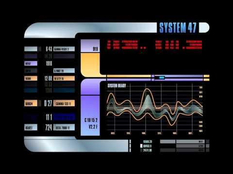 Star Trek The Next Generation LCARS Display Screensaver 10 Hours