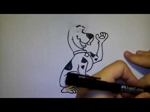 วาดการ์ตูน กันเถอะ สอนวาดรูป การ์ตูน สกูปปี้ดู scooby doo