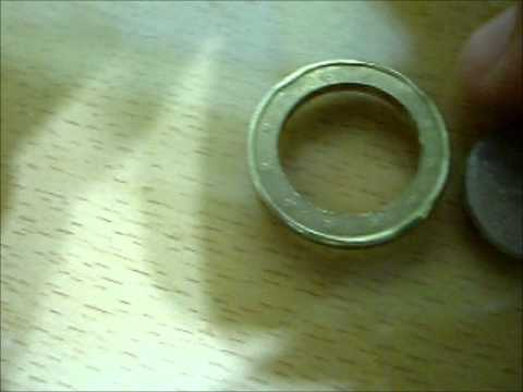 How to split an 1 Euro Coin!