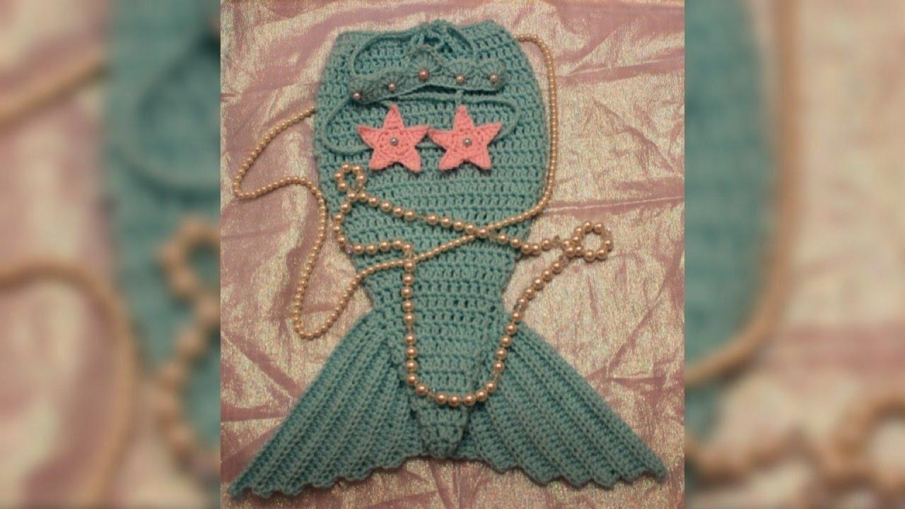 Como hacer una cola de sirena facil a crochet, gancho, y ganchillo ...