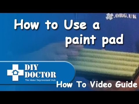 Using A Paint Pad Youtube