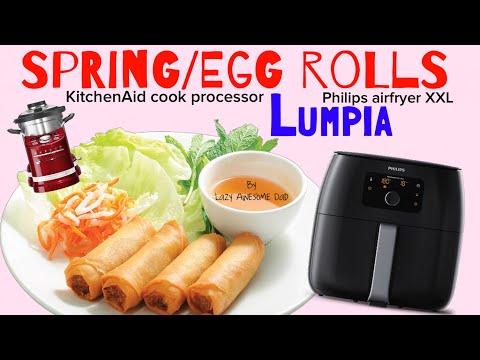 Vietnamese Spring Rolls in Philips AirFryer XXL & KitchenAid Cook Processor (Egg Rolls / Lumpia)