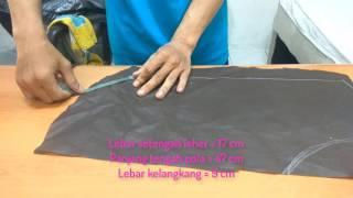 Cara Membuat Pola Dan Menjahit Baju Romper Bayi Bagian 1 CARA MEMBUAT POLA DAN MEMOTONG KAIN