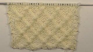 0210-узор.Плетёнка. Вязание спицами. Pattern. Knitting with needles