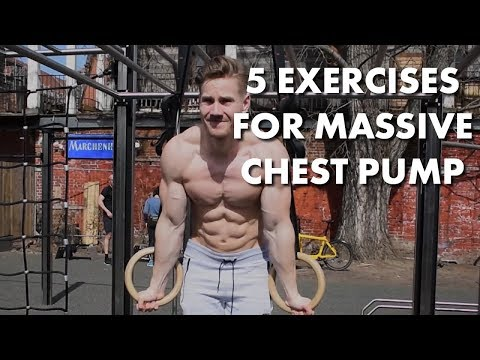 5 EXERCISES FOR MASSIVE CHEST PUMP || NO WEIGHTS