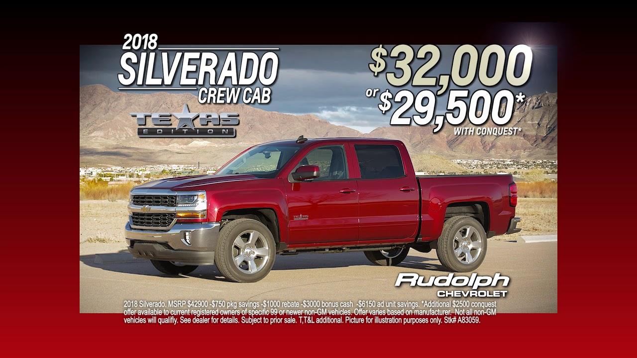 Chevy Dealership El Paso >> Rudolph Chevrolet Dealership In El Paso Tx Save Big On A 2018 Silverado