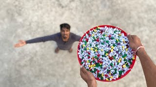 Experiment Dropping 1000 Pop Pop Crackers On My Friend || Pop Pop  vs Friend || Desi Experiment