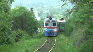 дизель поезд д1 715 близ ст делятин d1 715 near deljatin station