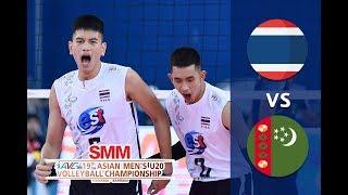 Thailand vs Turkmenistan  Asian Mens  U20 Volleyball Championship 2018