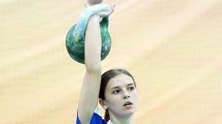 Ksenia Dedyukhina - 183 snatches with 24 kg kettlebell / Ксения Дедюхина - рывок гири 24 кг 183 раза