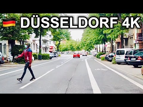 [4K] Dusseldorf Main Station to Rath-Mitte 4K - Cycling through Western Germany