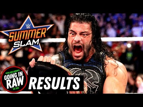 WWE SUMMERSLAM 2018 FULL RESULTS & REVIEW! Going In Raw Pro Wrestling Podcast