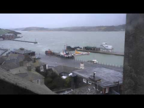 Padstow harbour taking a battering from a storm high tide 3/2/2014