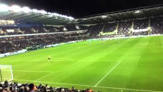 Man united fans Reading away Rooney goal 2012