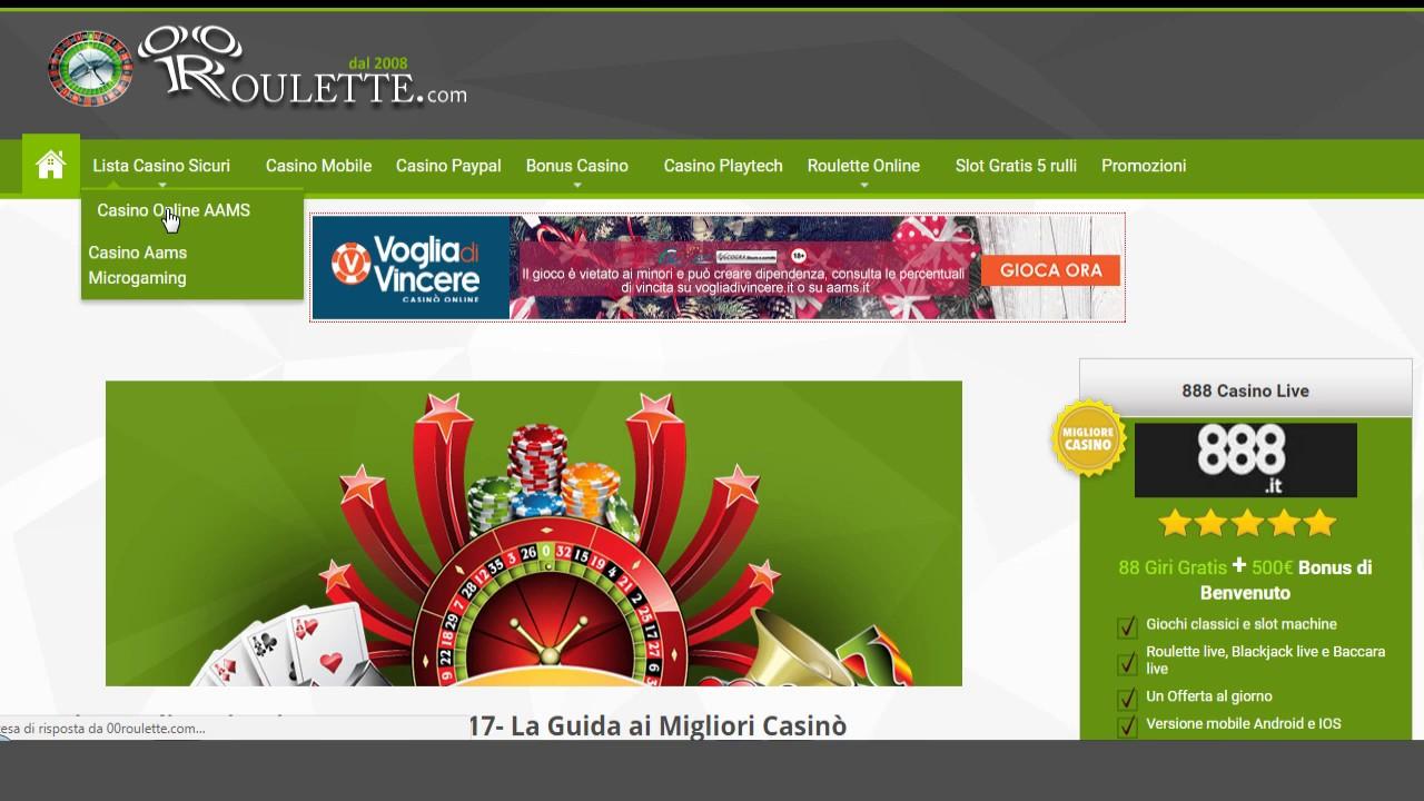 Casino online lista aams