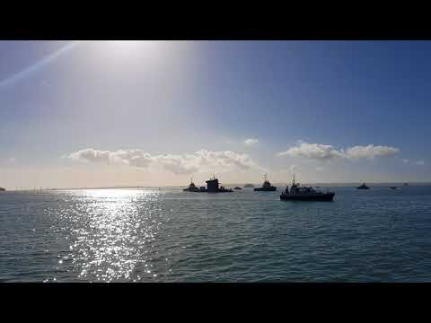 HNLMS Walrus sailing into HMNB Portsmouth  16/2/2018