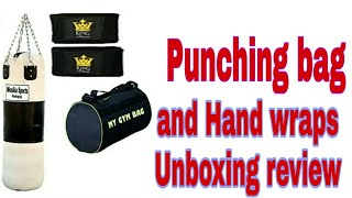 Punching bag Unboxing and review hand wraps