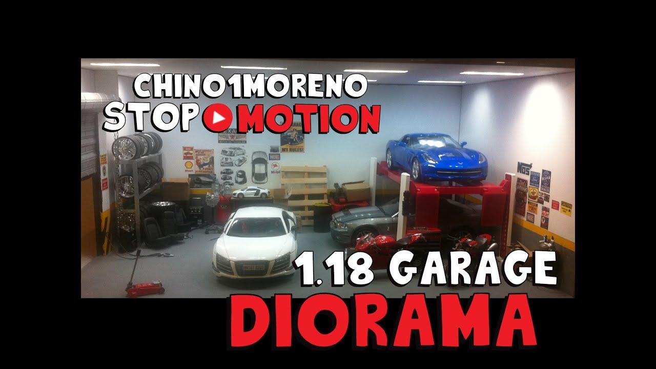 1 18 Garage Diorama Youtube