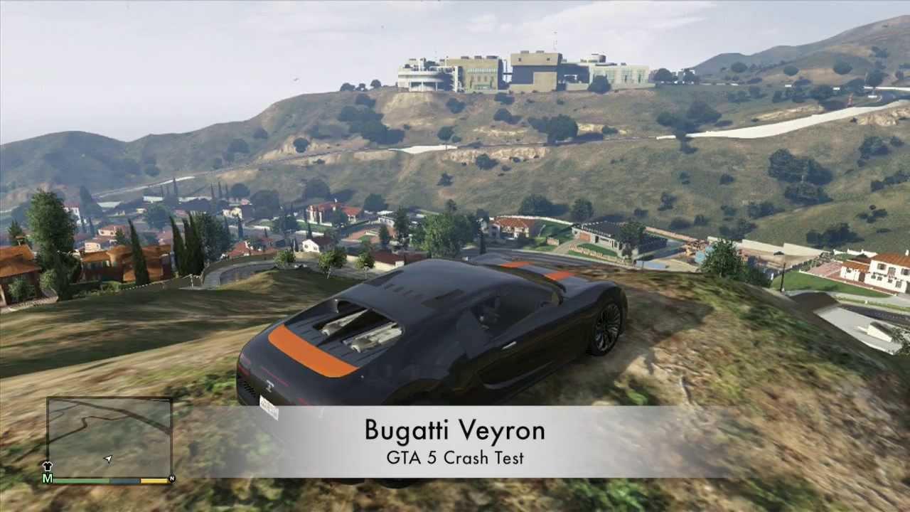 gta 5 v xbox 360 bugatti veyron crash testing gameplay youtube. Black Bedroom Furniture Sets. Home Design Ideas
