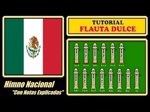 """Himno Nacional Mexicano en Flauta """"Con Notas Explicadas"""""""