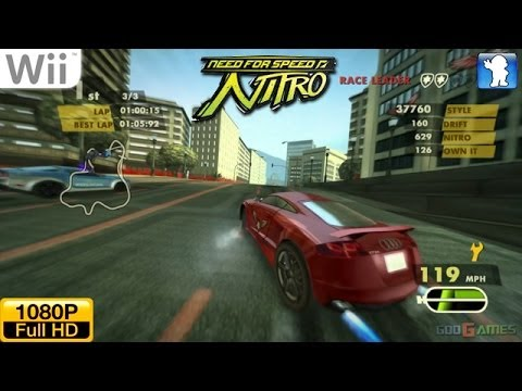 need for speed nitro wii gameplay 1080p dolphin gc wii. Black Bedroom Furniture Sets. Home Design Ideas