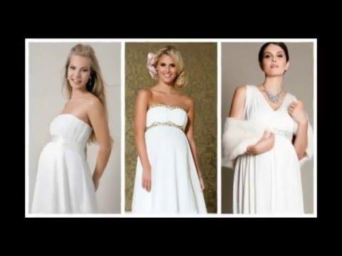 Vestidos de boda sencillos para embarazadas