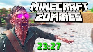 Completing MINECRAFT ZOMBIES UPDATED One Window Challenge Flawlessly & In Fastest Time Ever!