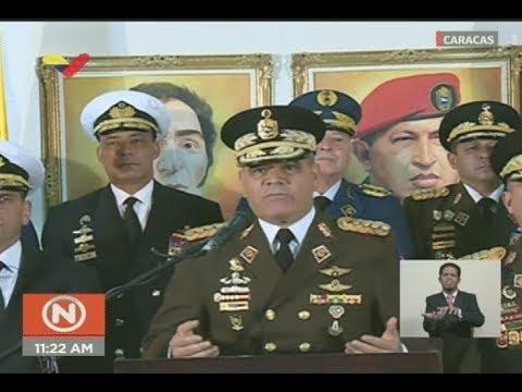 Ministro de Defensa de Venezuela sobre autoproclamación de Juan Guaidó como supuesto presidente