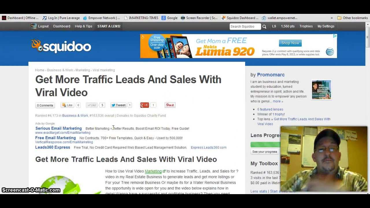 How To Use Squidoo To Drive Traffic - YouTube