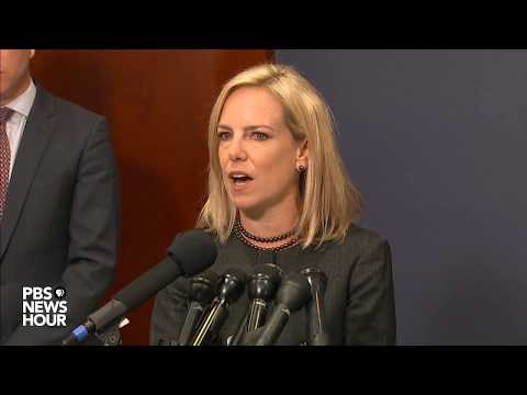 WATCH: Homeland Security Sec. Kirstjen Nielsen answers questions after briefing lawmakers