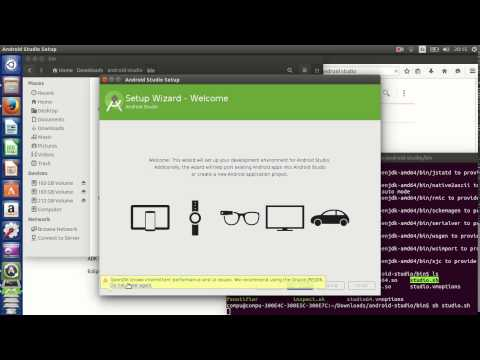 como instalar android studio en ubuntu 14.04 parte 1