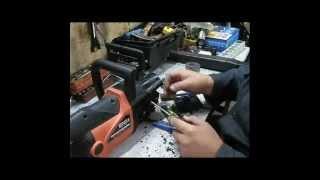 Ремонт электропилы треск в редукторе