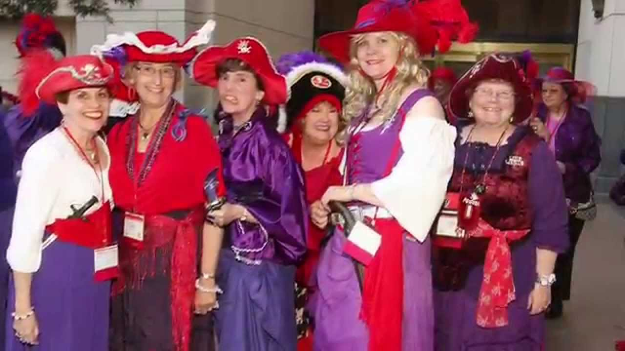 Red Hat Society Virtual Pirate Party Video Invitation