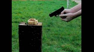 Glock vs Biscuits - Super Slow Mo - With Audio